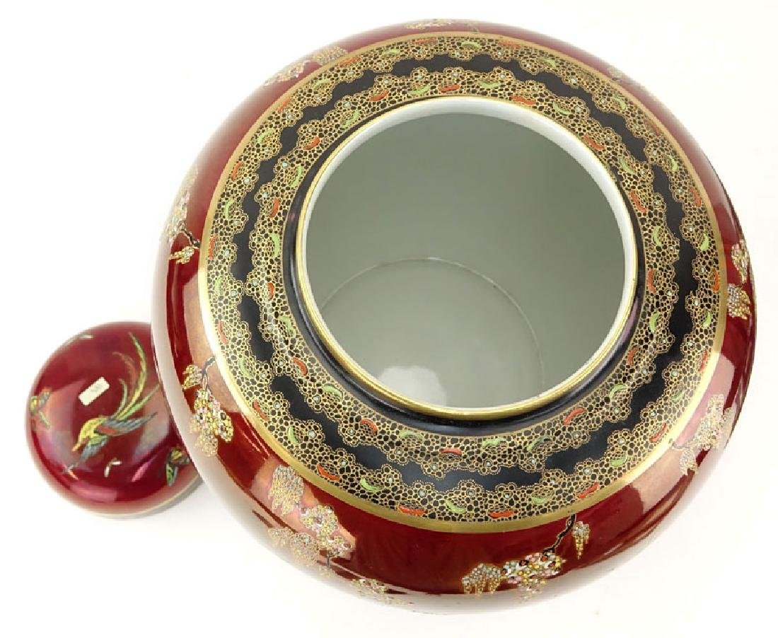 Carlton Ware Oriental Style Rouge Royale Luster Ginger - 4