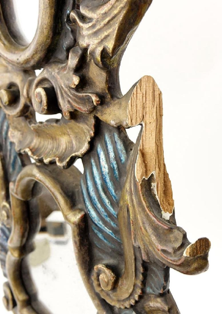 Pair of Italian Rococo Style Polychrome Carved Wood - 6