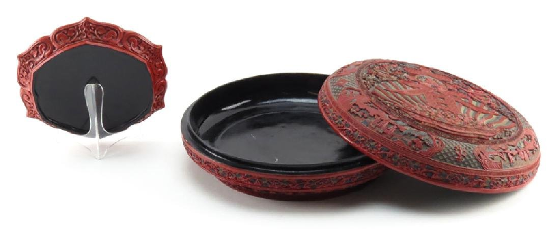 Grouping of Two (2) Chinese Lacquered Cinnabar Tabletop - 2