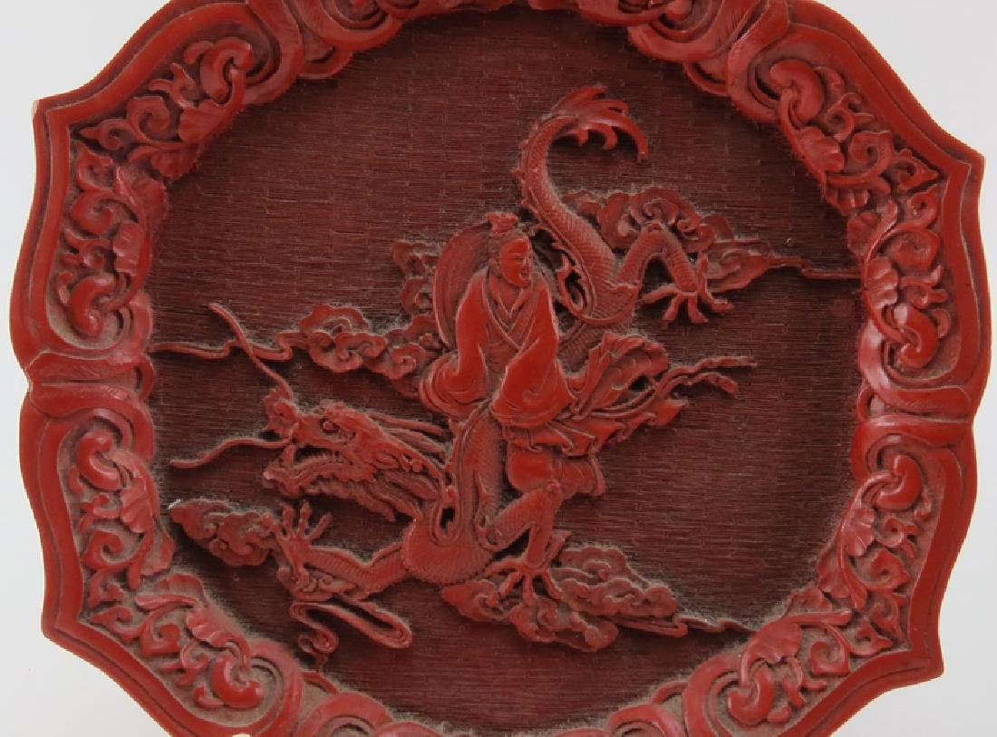 Grouping of Two (2) Chinese Lacquered Cinnabar Tabletop - 5