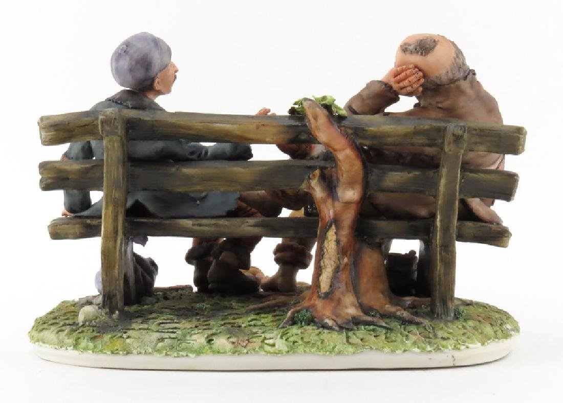 Vintage Capodimonte Porcelain Group, Two Tramps on - 2