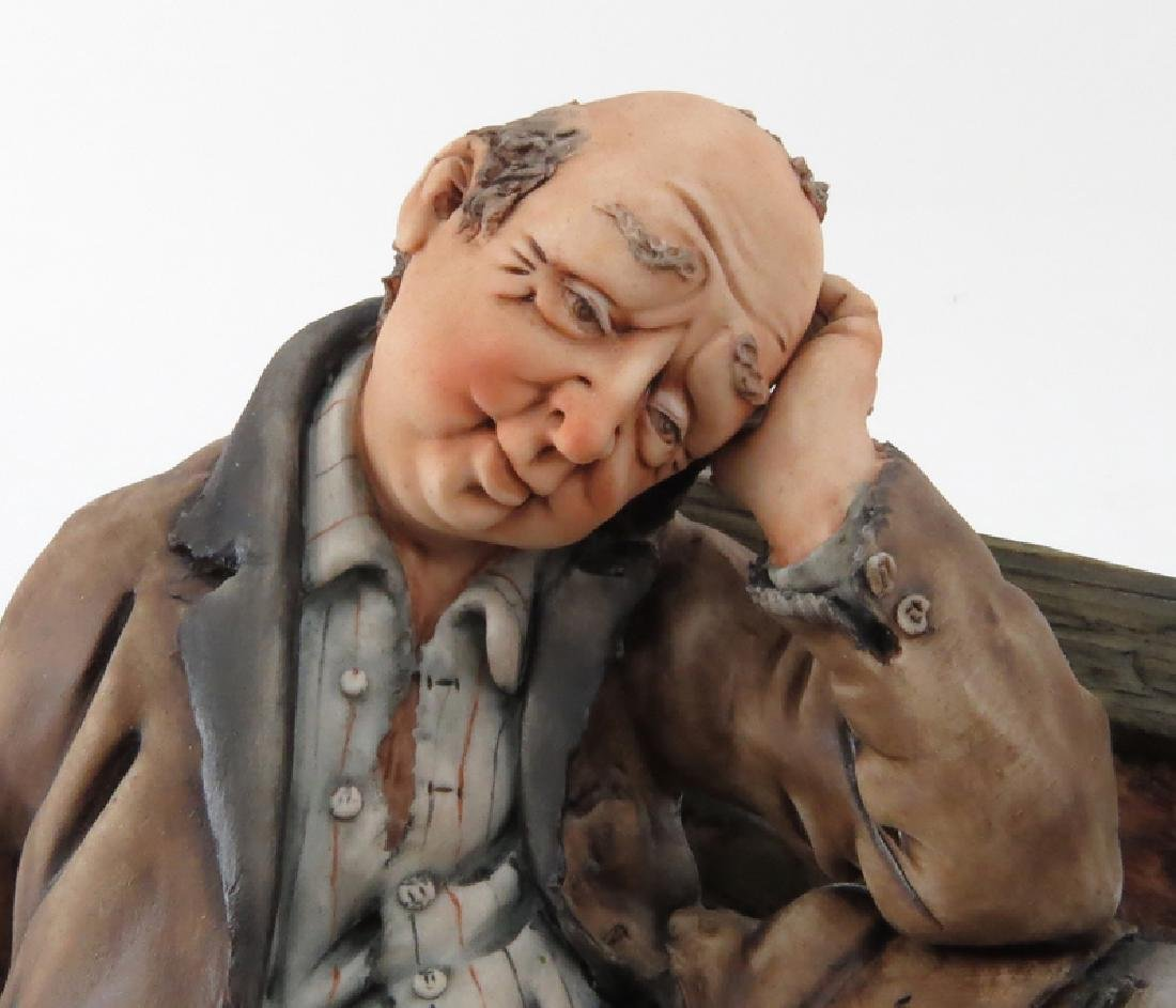 Vintage Capodimonte Porcelain Group, Two Tramps on - 3