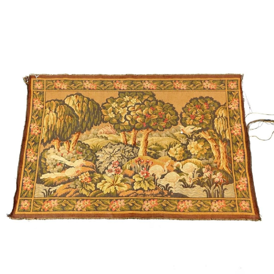Late 19th Century French Tapestry. Depicts a landscape