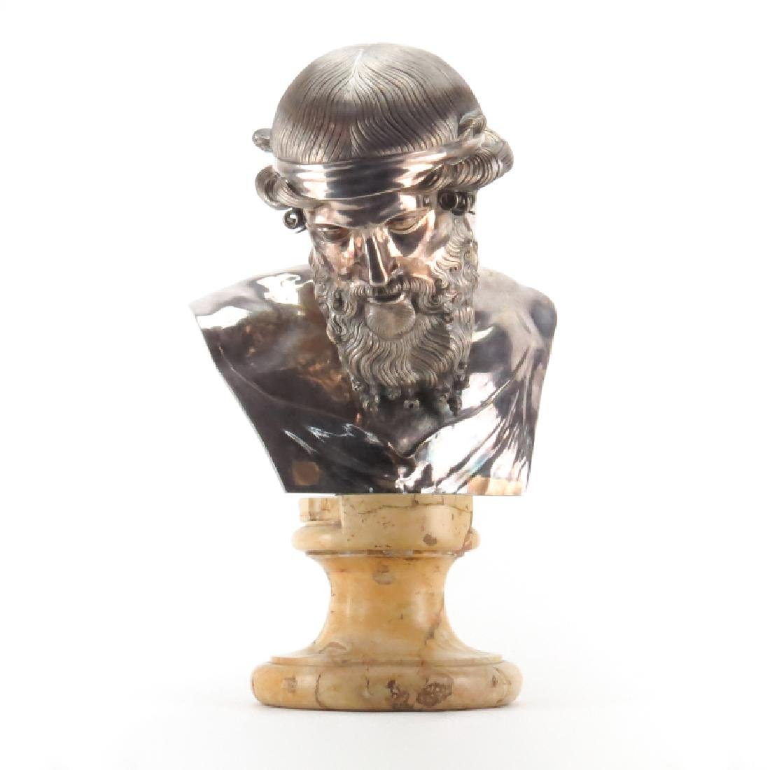 19th Century French Silvered Bronze sculpture of a