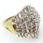 Ladys Vintage Approx 350 Carat Round Brilliant and