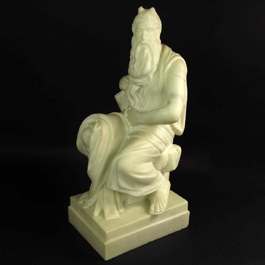 "Mid 20th Century White Marble Sculpture ""Michelangelo's"