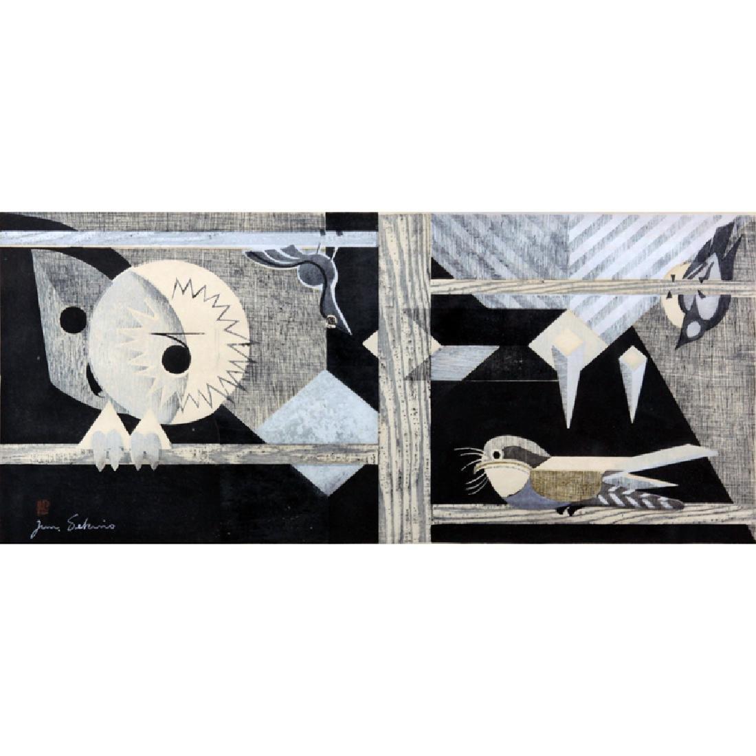 Junichiro Sekino, Japanese (1914-1988) Color Woodcut
