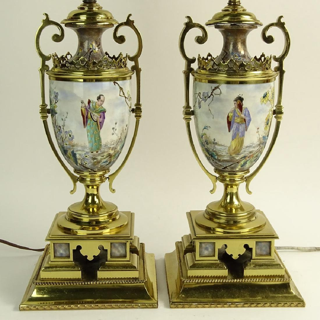 Pair of Early 20th C Japonism Brass Mounted Hand