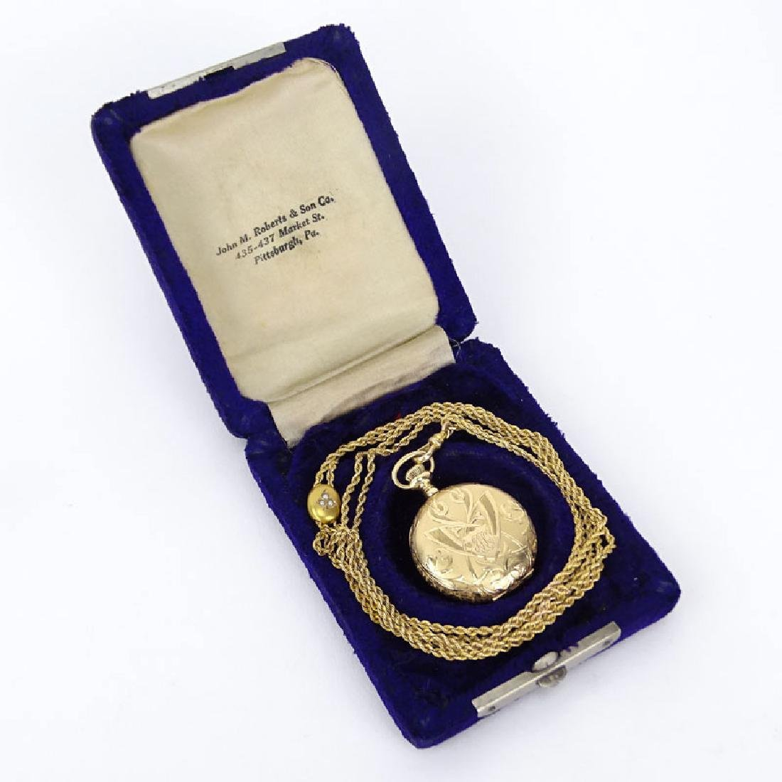 1903 14 Karat Gold Elgin Pocket Watch Serial #10907480.