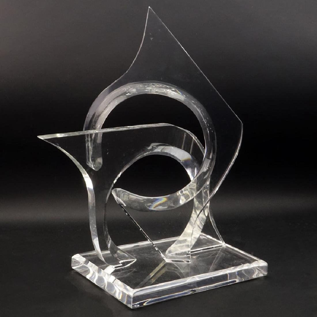 Mid Century Modern Hivo Van Teal Lucite Sculpture.