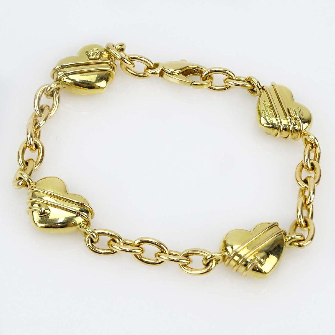Tiffany & Co 18 Karat Yellow Gold Four Hearts Charm