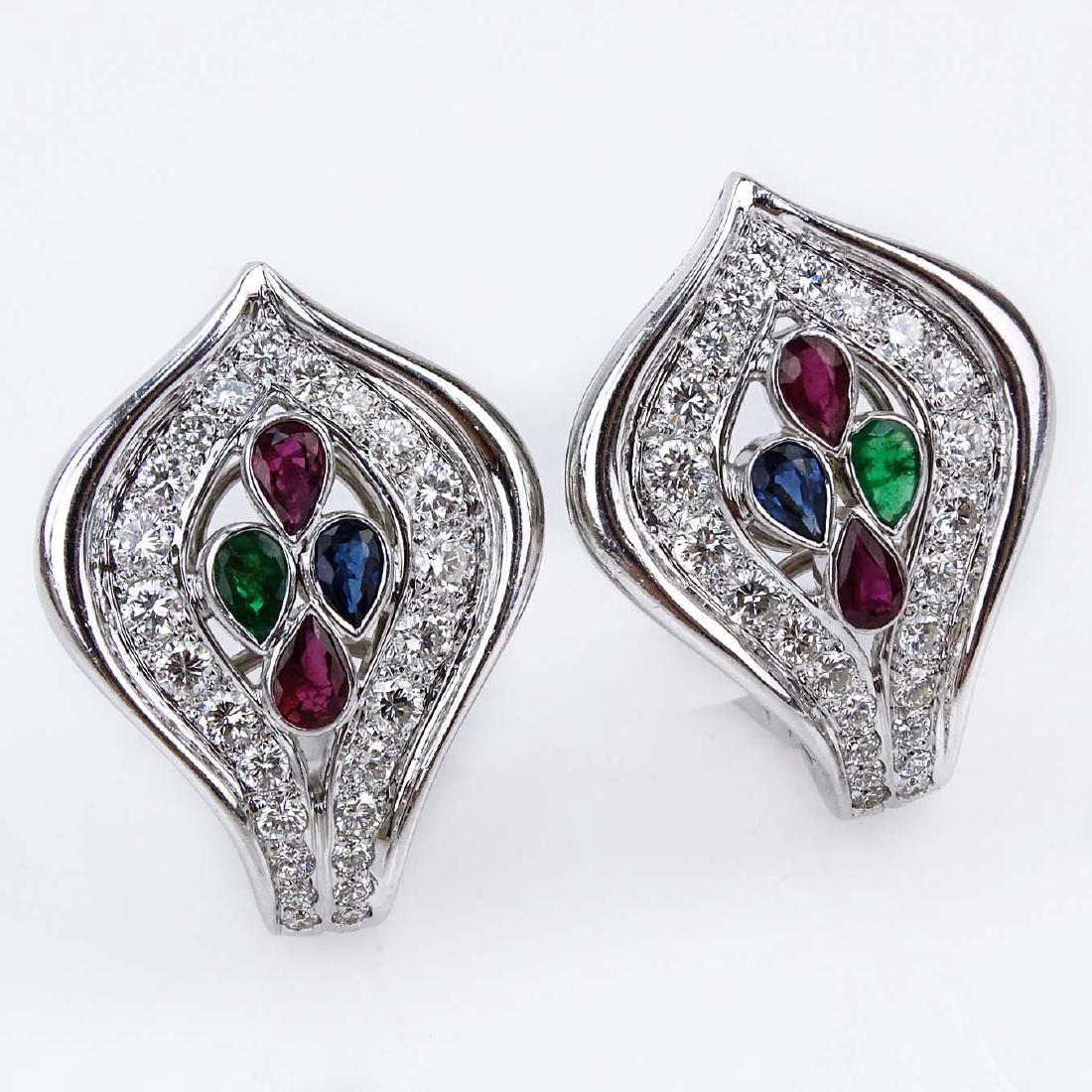 Cartier Diamond, Ruby, Emerald, Sapphire and 18 Karat