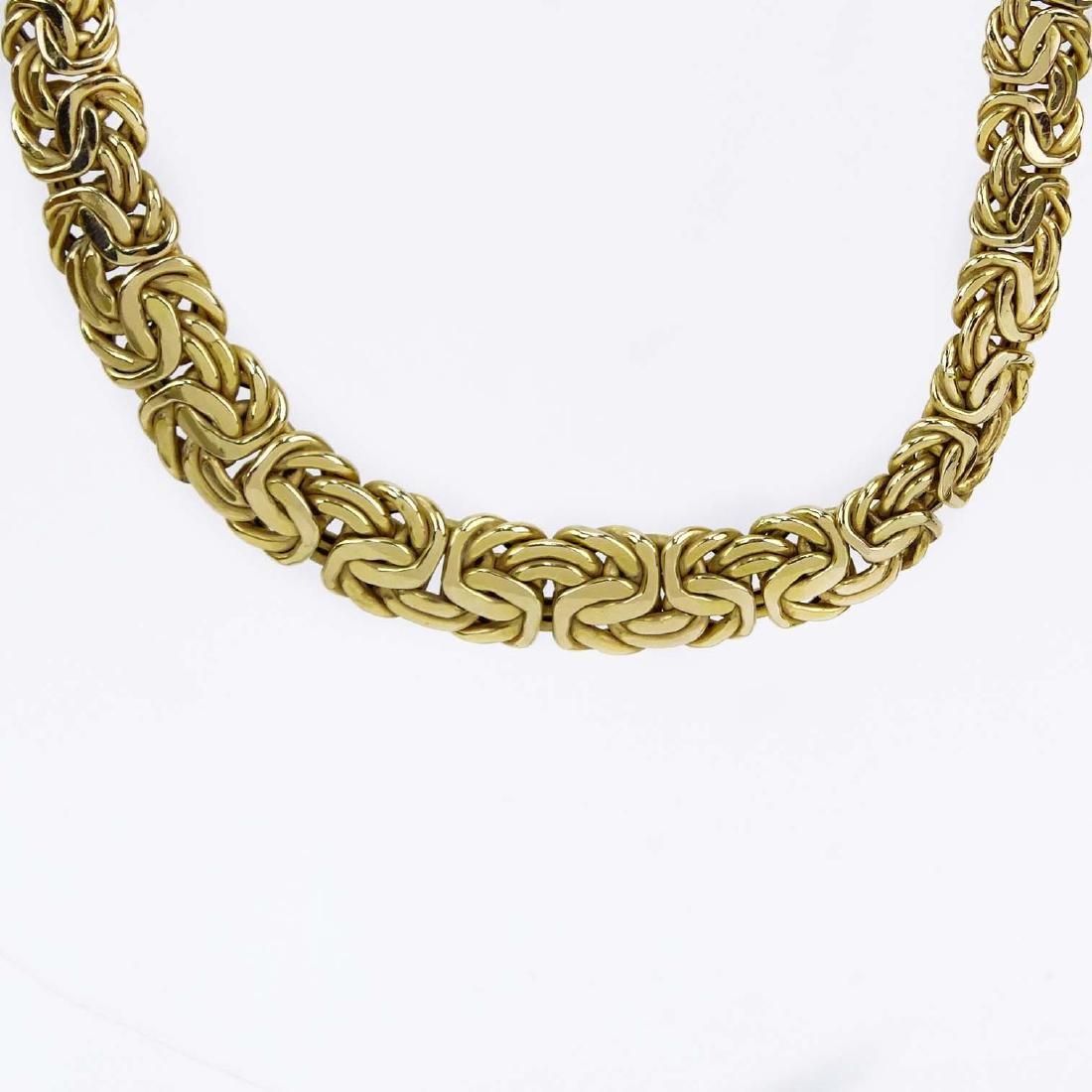 Vintage Italian 14 Karat Yellow Gold Link Necklace.