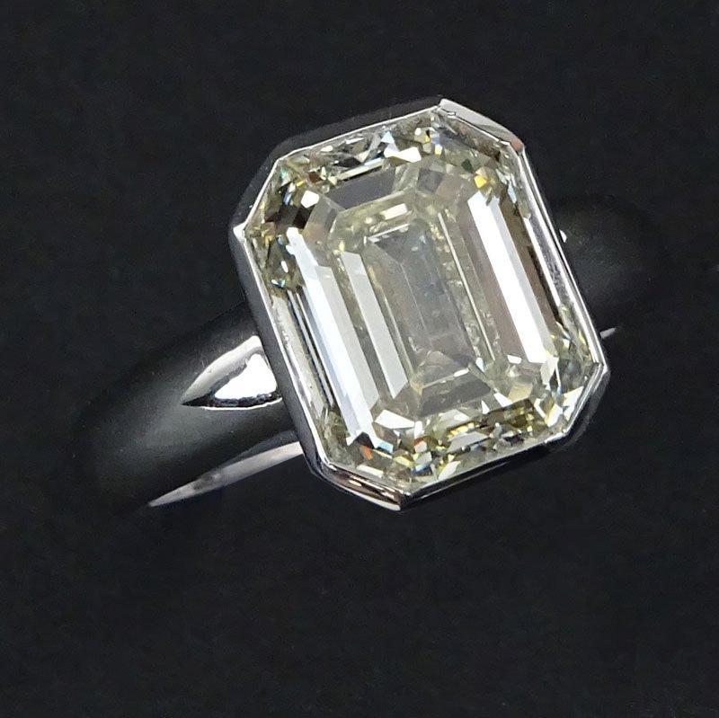 Approx. 5.0 Carat Emerald Cut Diamond and 18 Karat
