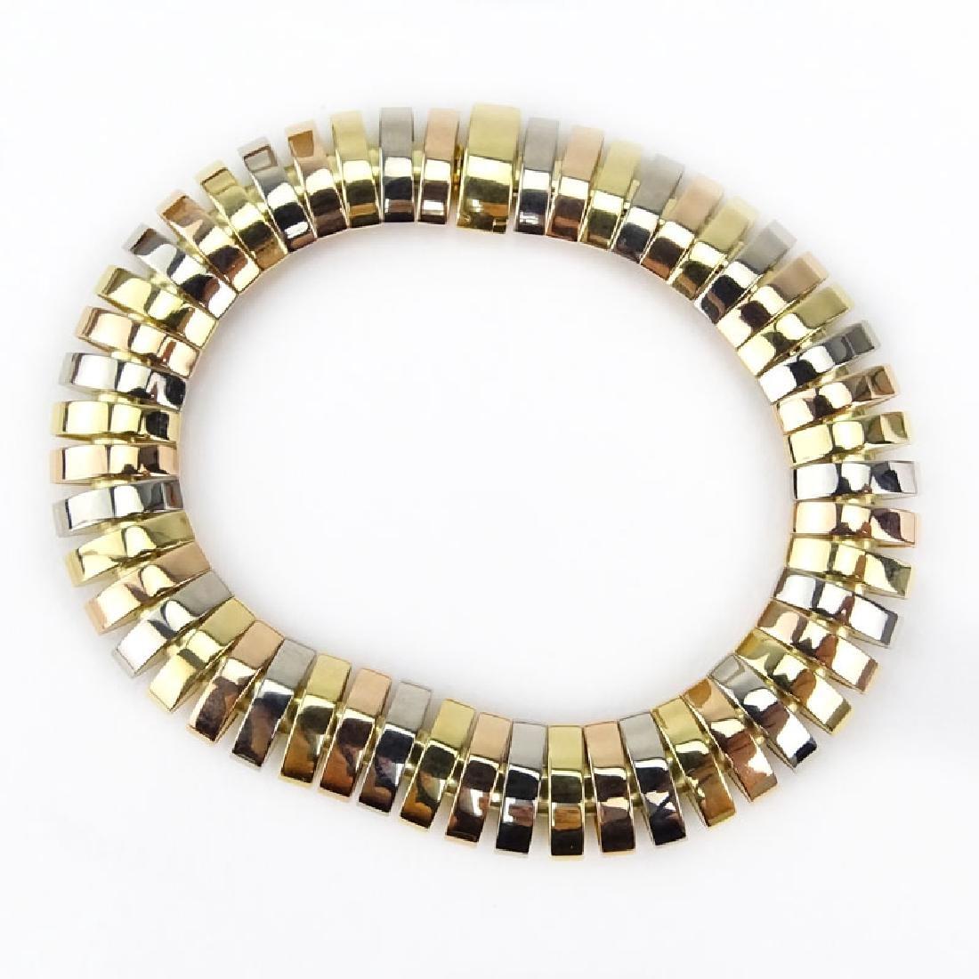 Cartier Tubogas Tri-Color 18 Karat Gold Flex Link