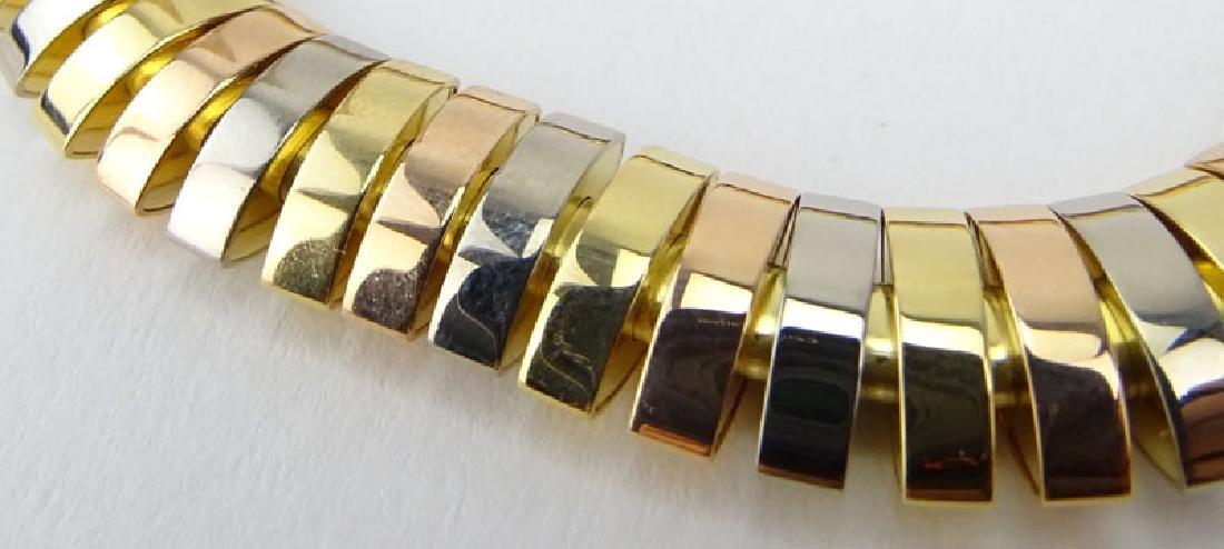 Cartier Tubogas Tri-Color 18 Karat Gold Flex Link - 2