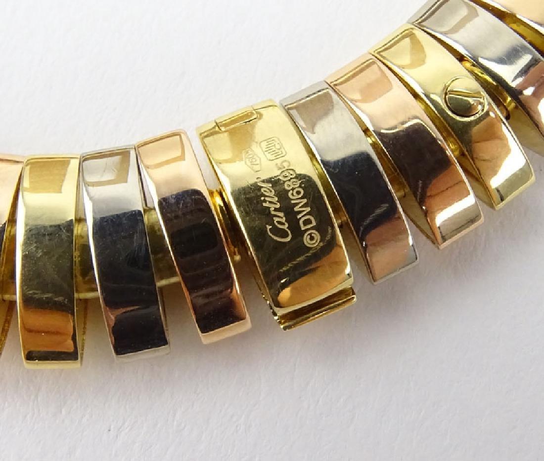 Cartier Tubogas Tri-Color 18 Karat Gold Flex Link - 4