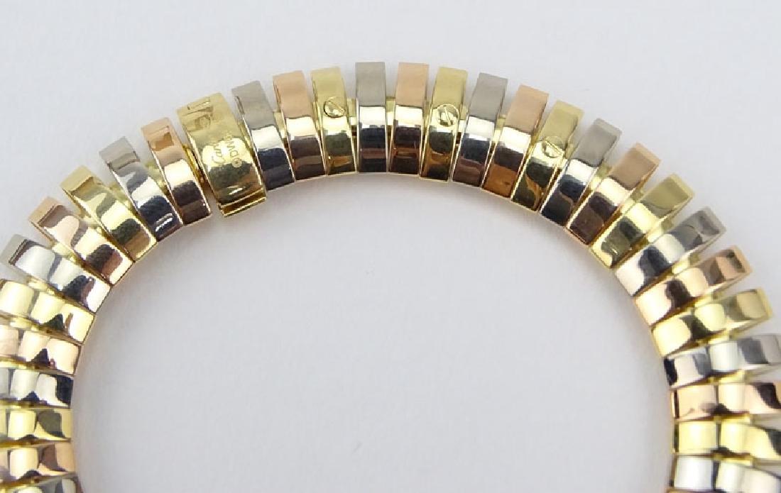 Cartier Tubogas Tri-Color 18 Karat Gold Flex Link - 5
