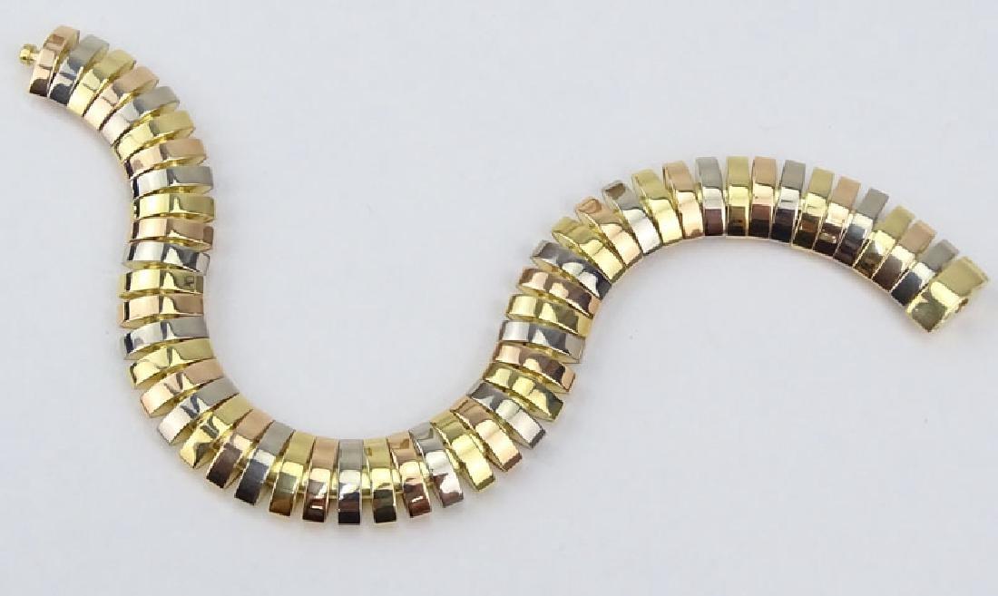 Cartier Tubogas Tri-Color 18 Karat Gold Flex Link - 6