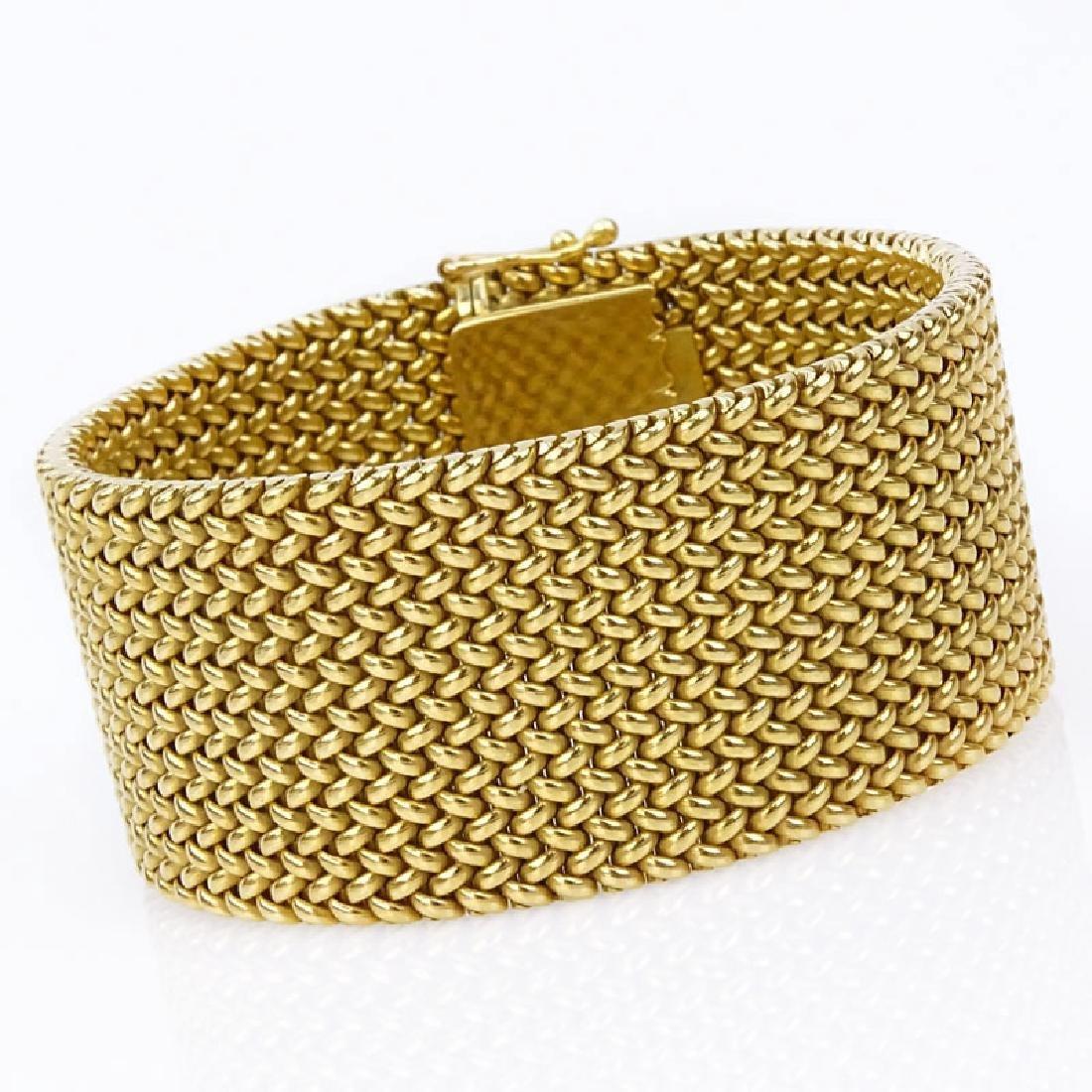 Vintage Heavy 18 Karat Yellow Gold Flexible Link