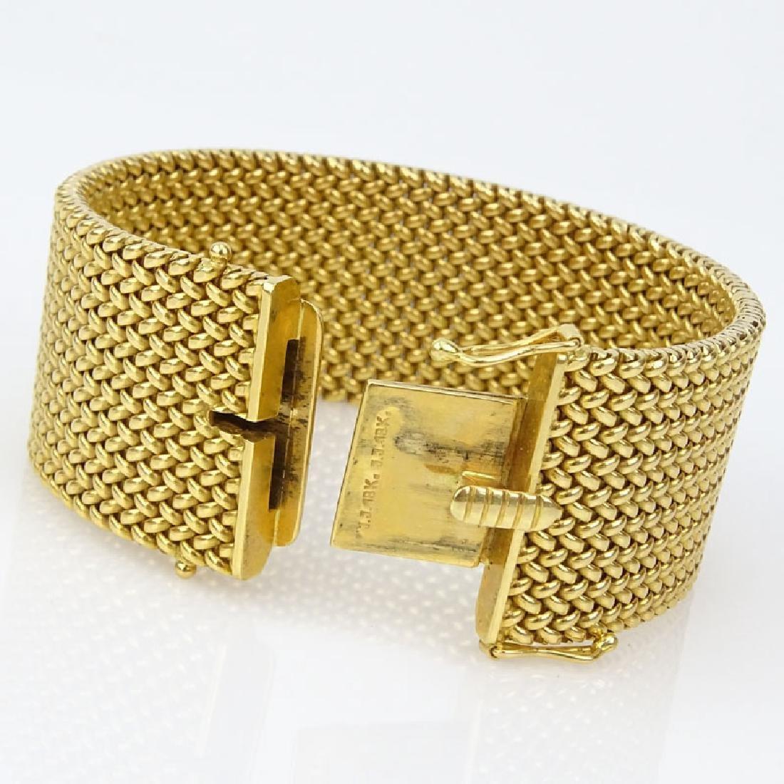 Vintage Heavy 18 Karat Yellow Gold Flexible Link - 4