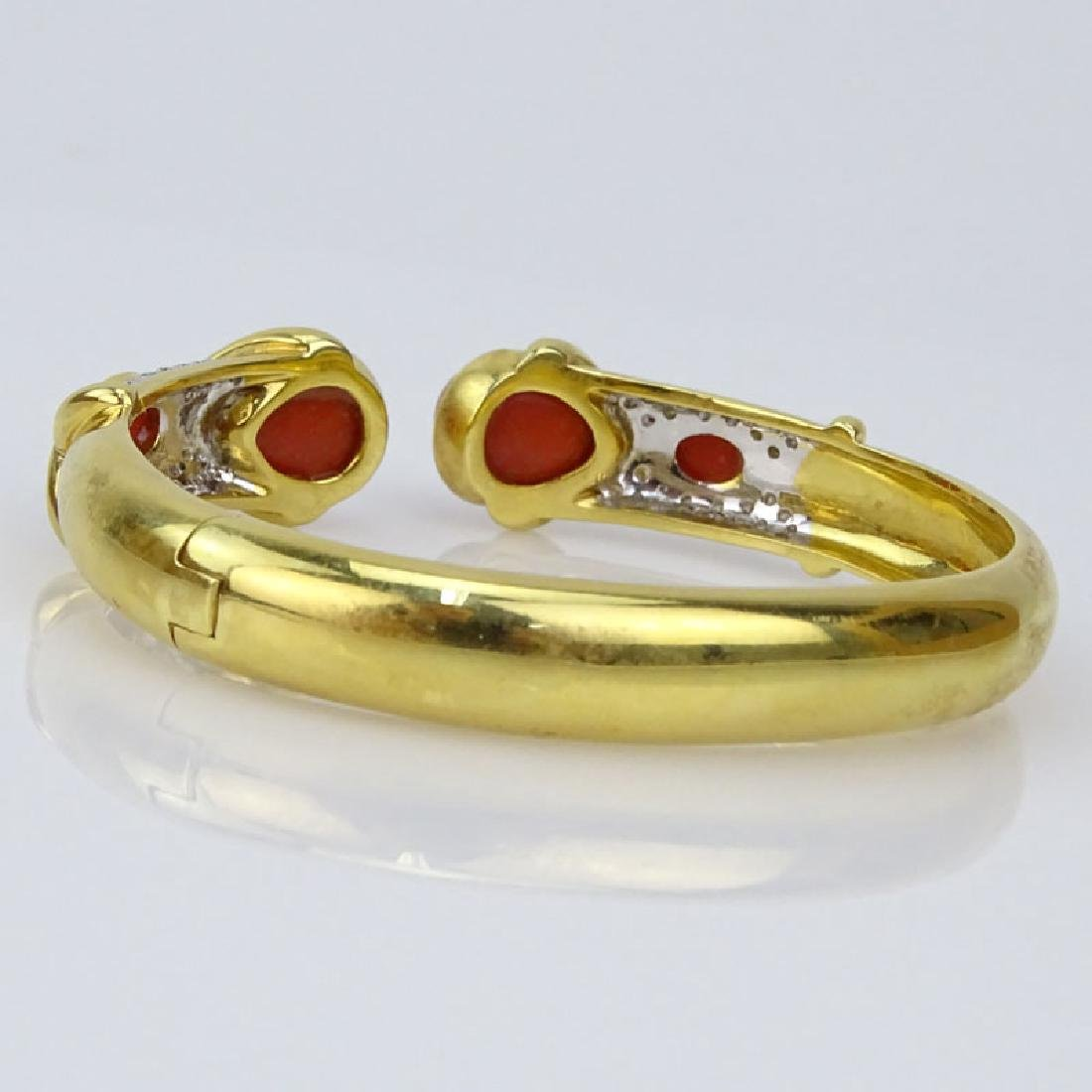 Vintage Italian 18 Karat Yellow Gold, Red Coral and - 3