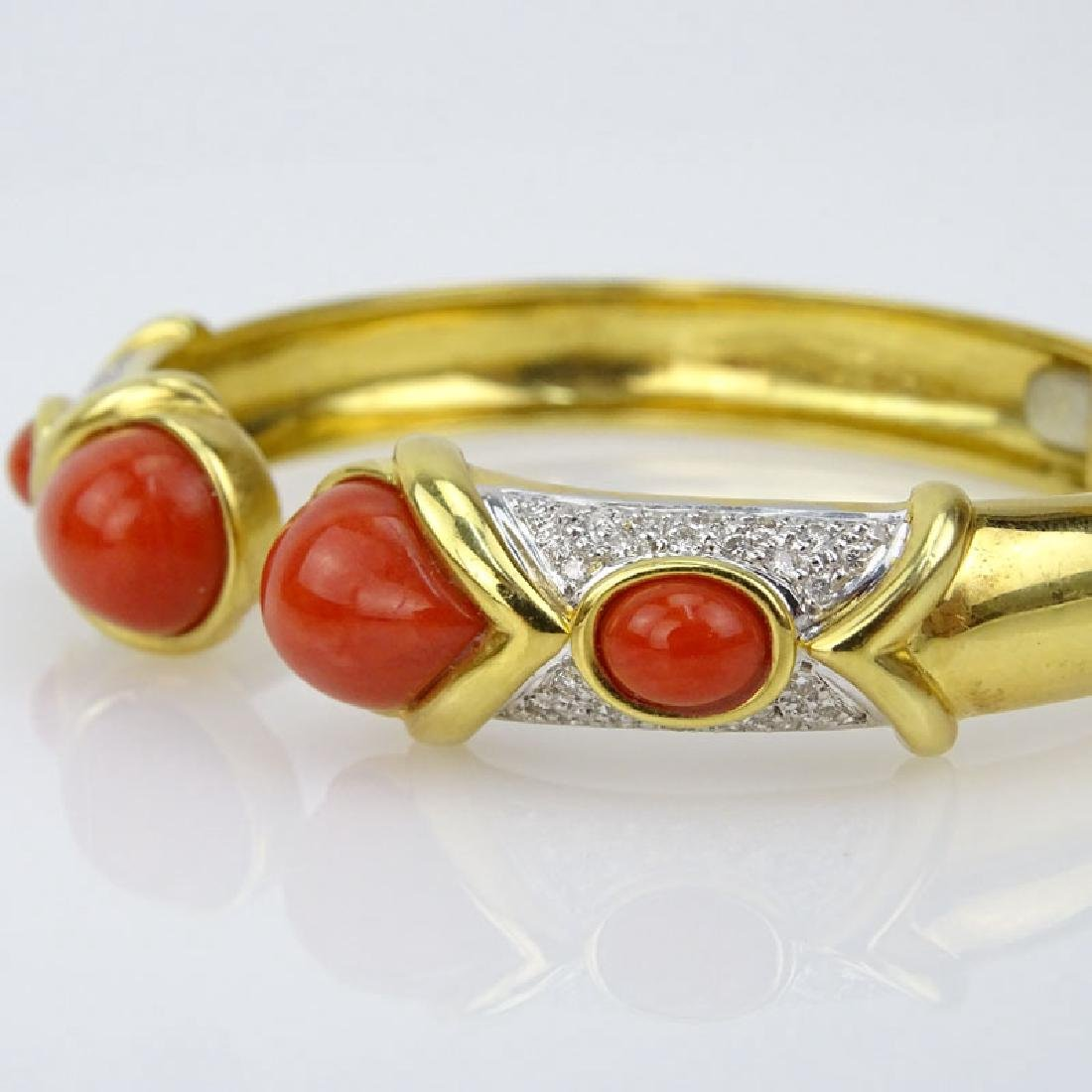 Vintage Italian 18 Karat Yellow Gold, Red Coral and - 4