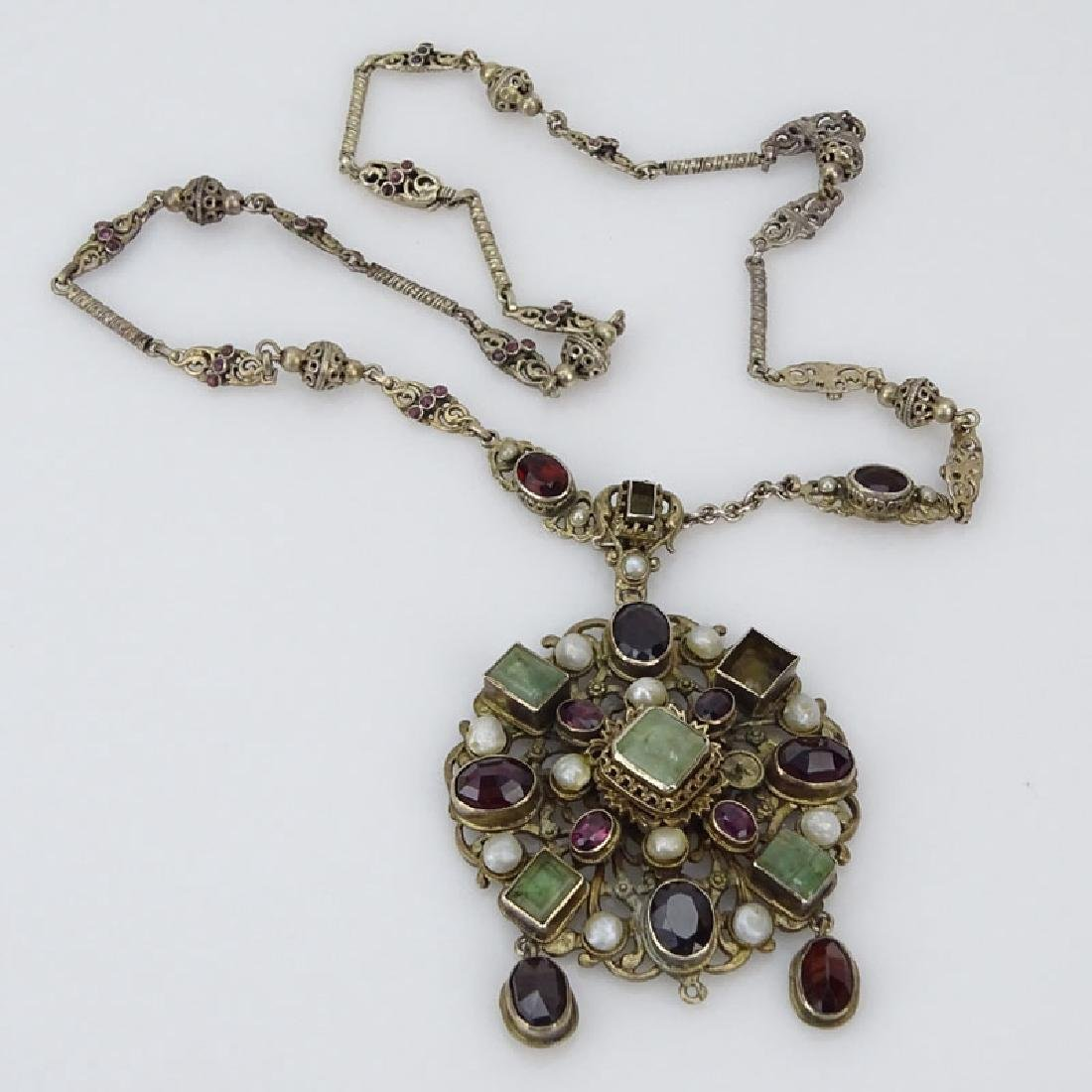 Antique Austro-Hungarian Emerald, Garnet, Pearl and Low - 2