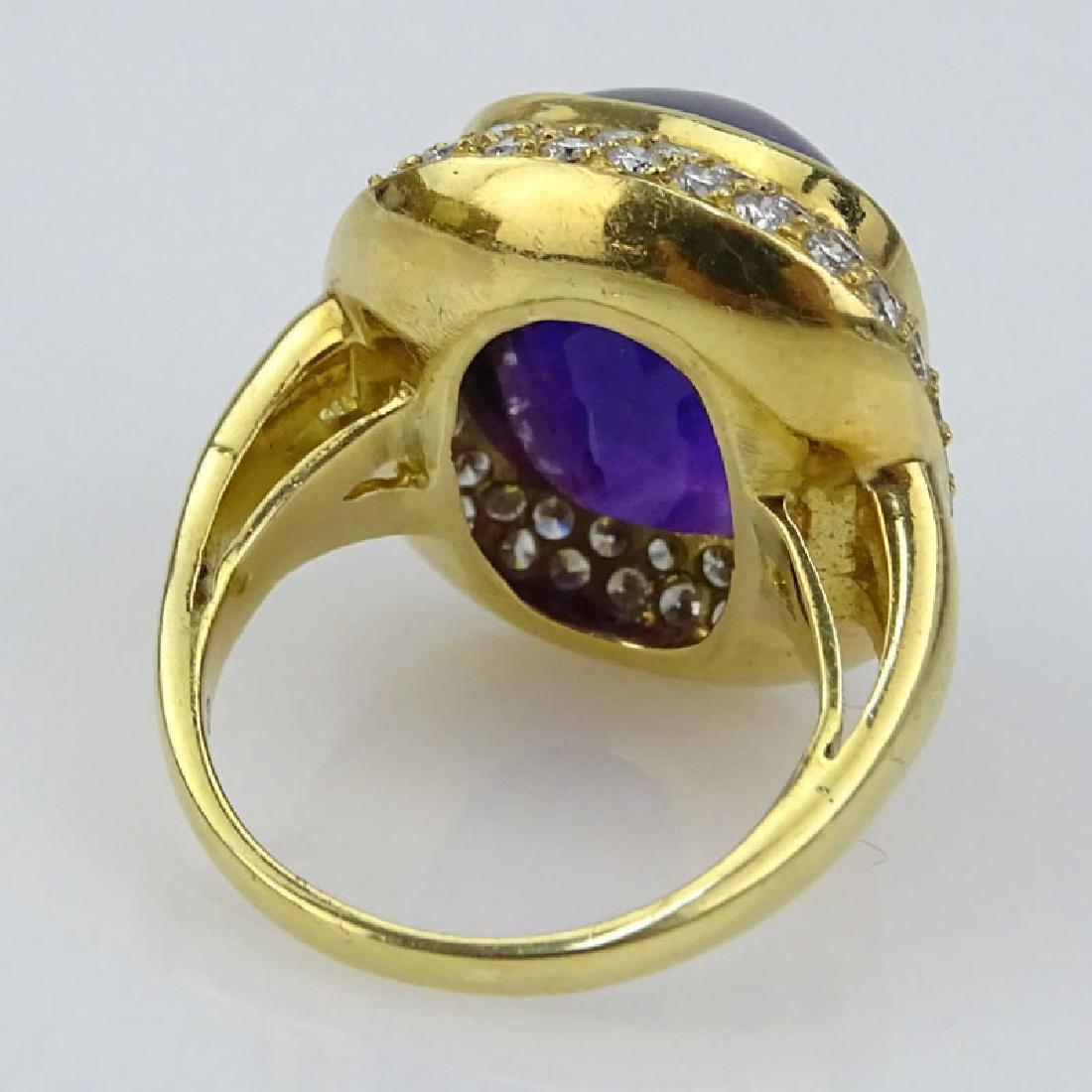 H Stern Sugarloaf Cabochon Amethyst, Pave Set Diamond - 2