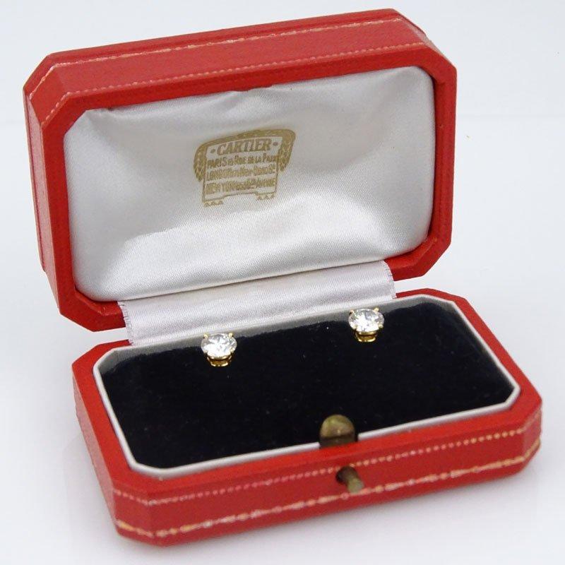 Vintage Cartier Paris GIA Certified 2.12 Carat Round