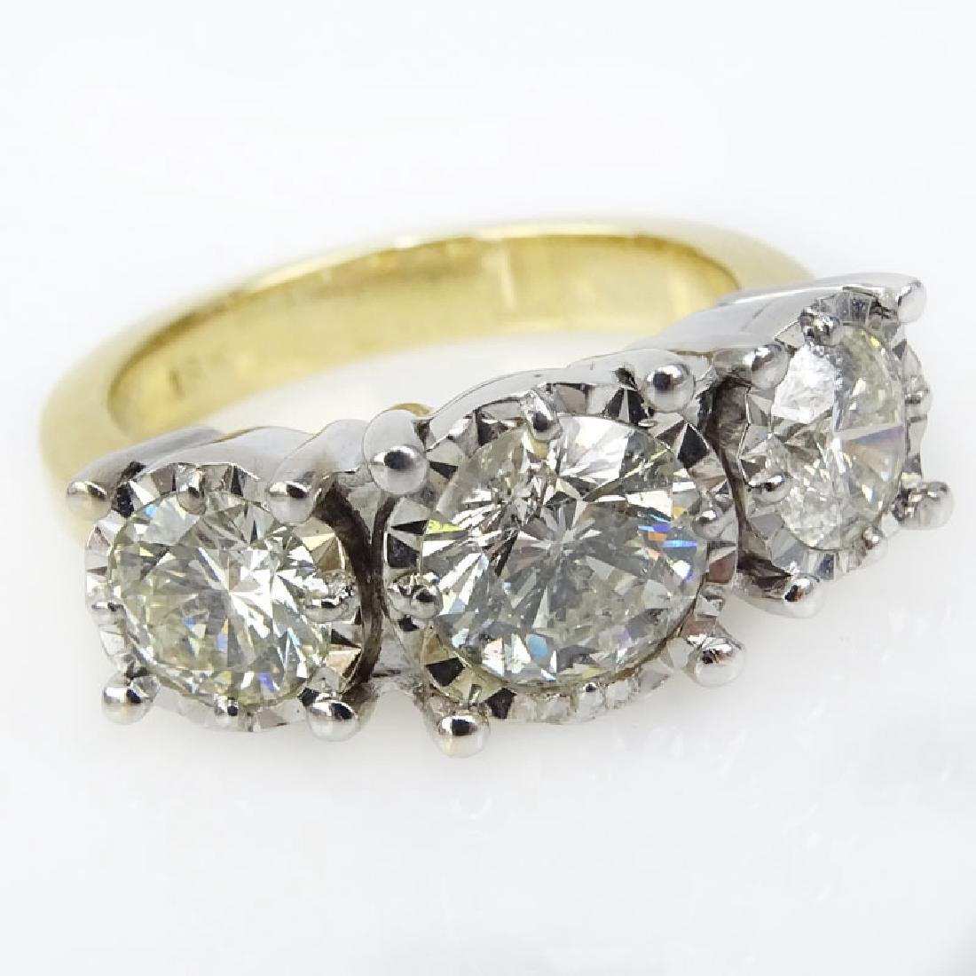 Vintage Approx. 3.75 Carat Round Brilliant Cut Diamond
