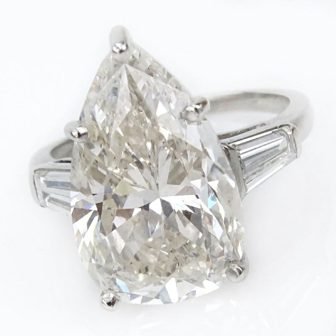 Approx. 8.45 Carat Pear Shape Diamond and Platinum