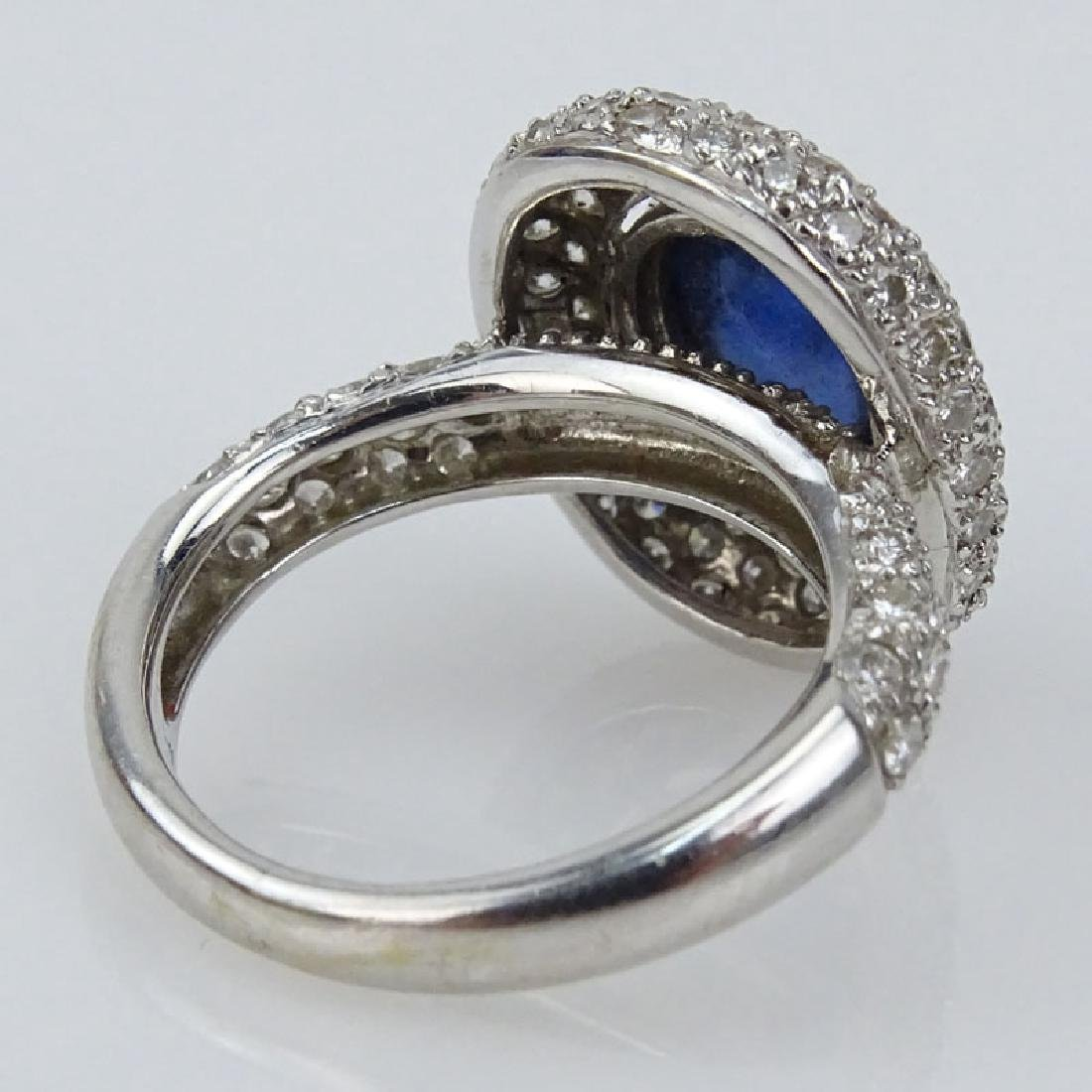 Italian Cabochon Sapphire, Pave Set Diamond and 18 - 2