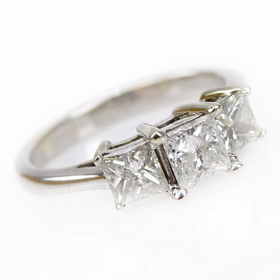 Vintage Approx. 1.0 Carat TW Princess Cut Diamond and