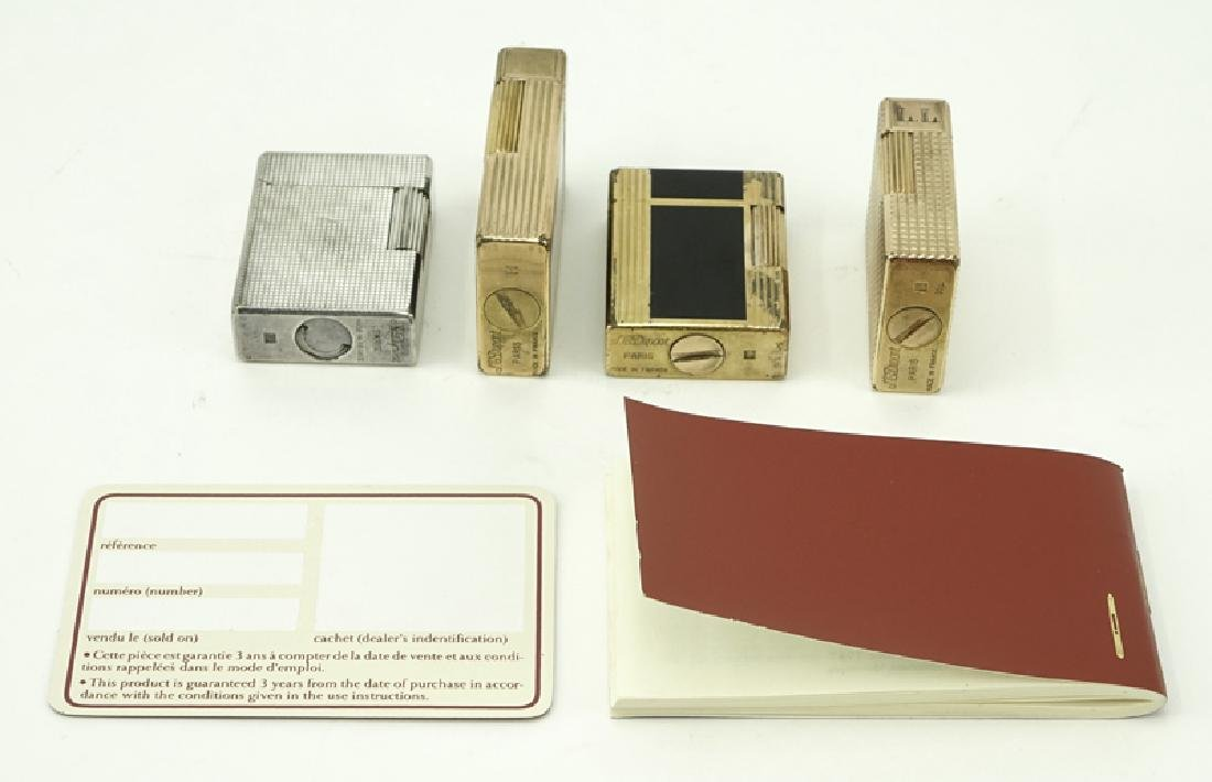Collection of Four (4) S.T. Dupont Lighters. 2 are - 2