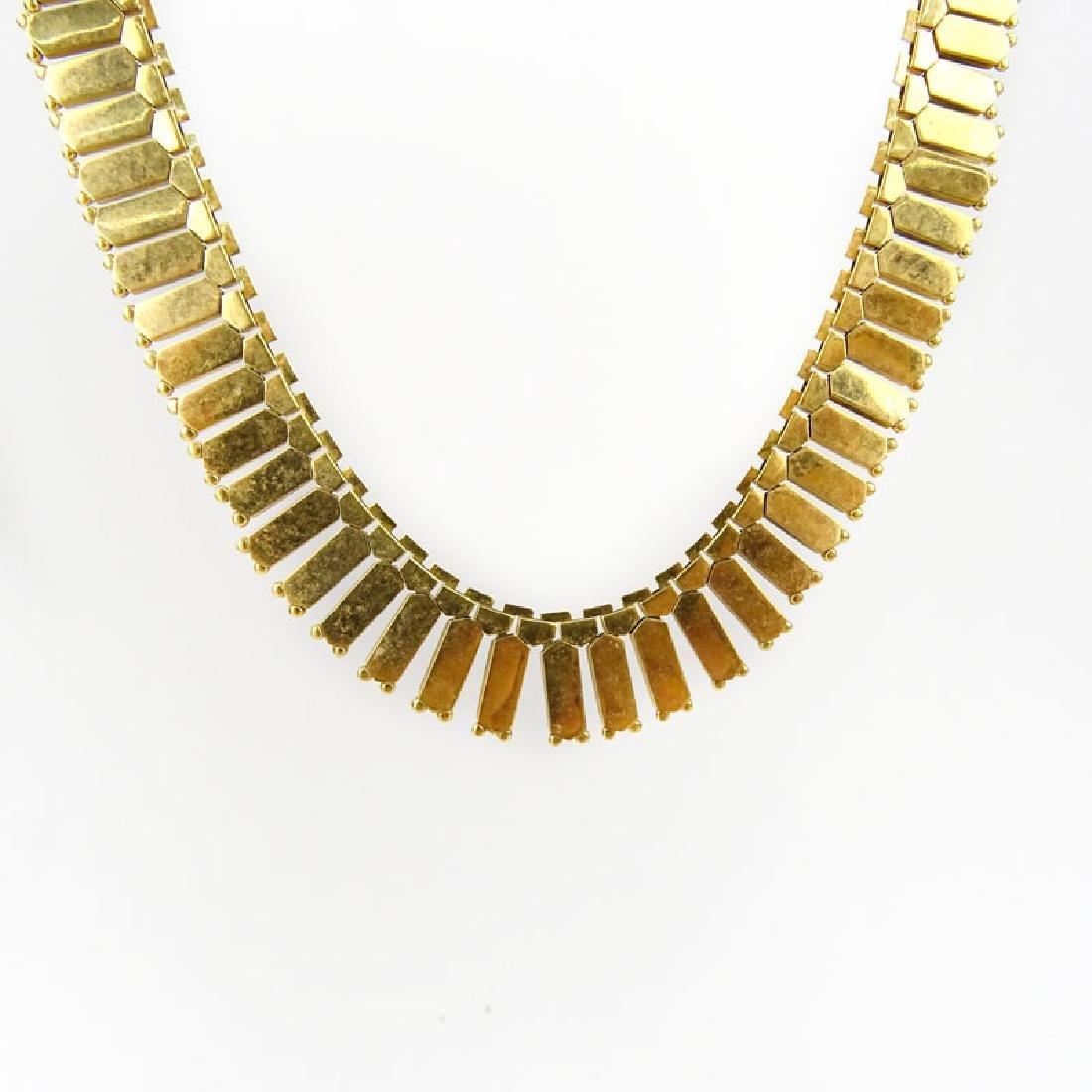 Vintage European 18 Karat Yellow Gold Necklace. Stamped