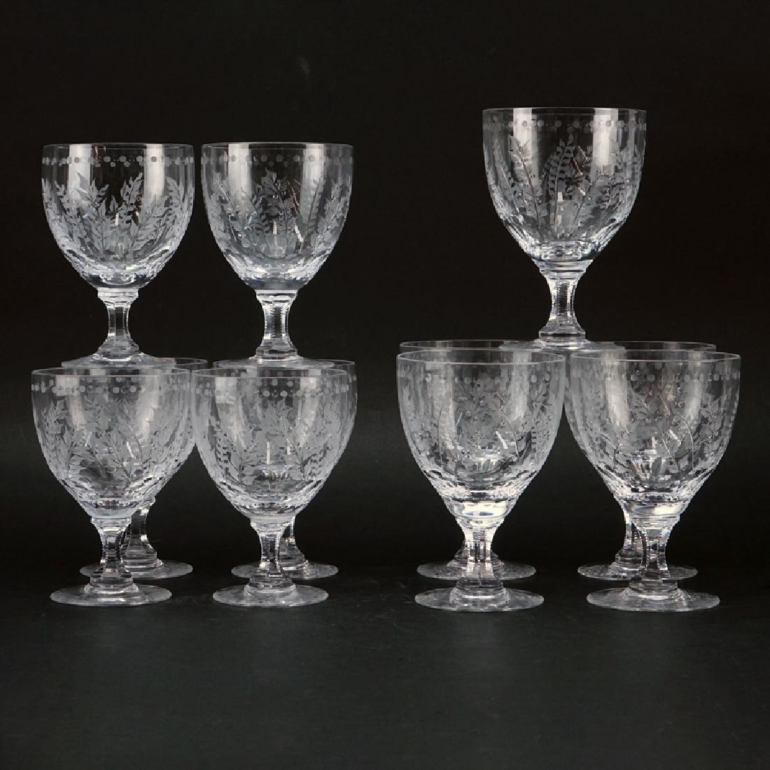 """Set of Eleven (11) William Yeoward """"Fern"""" Crystal"""