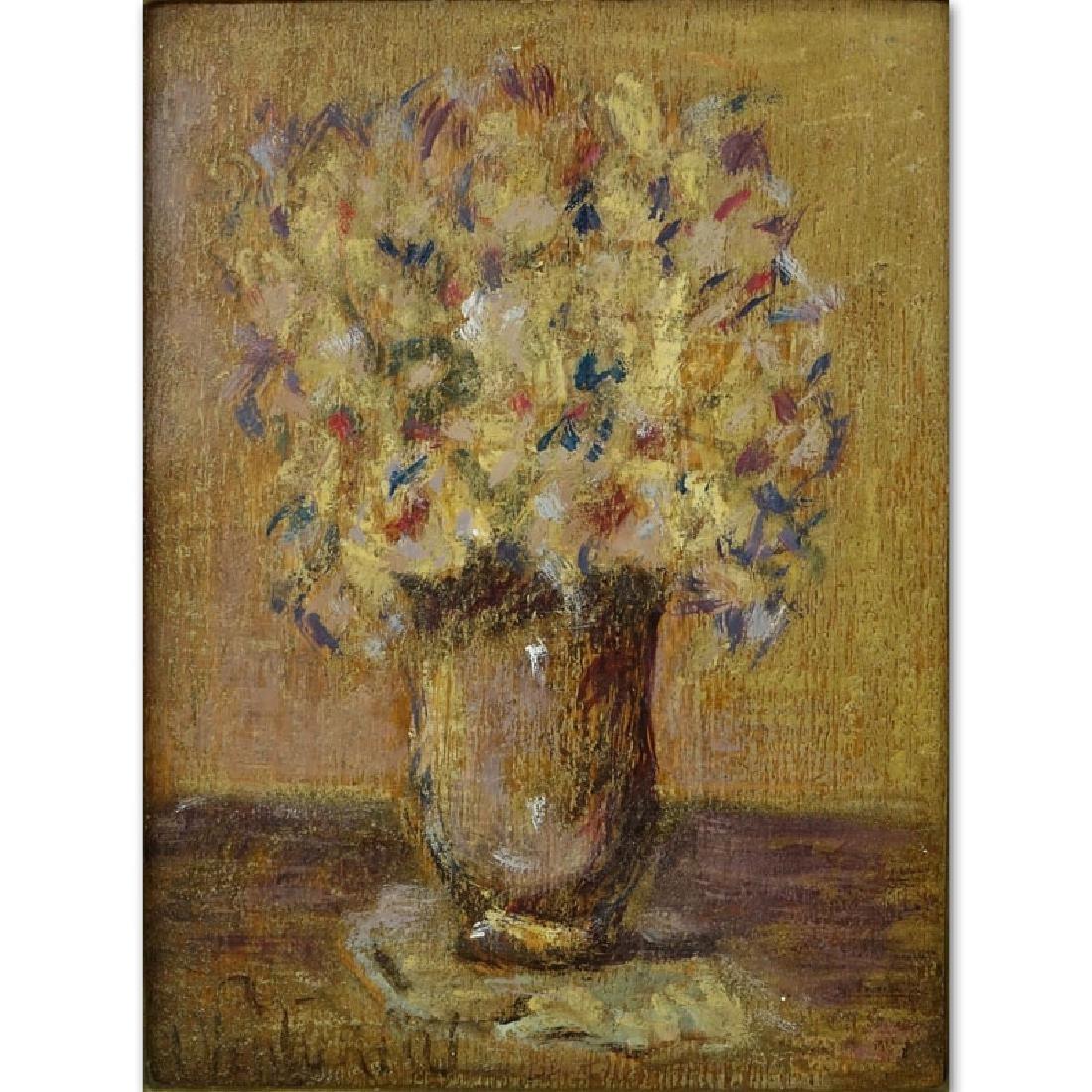 19th Century French Impressionist School Oil On Wood