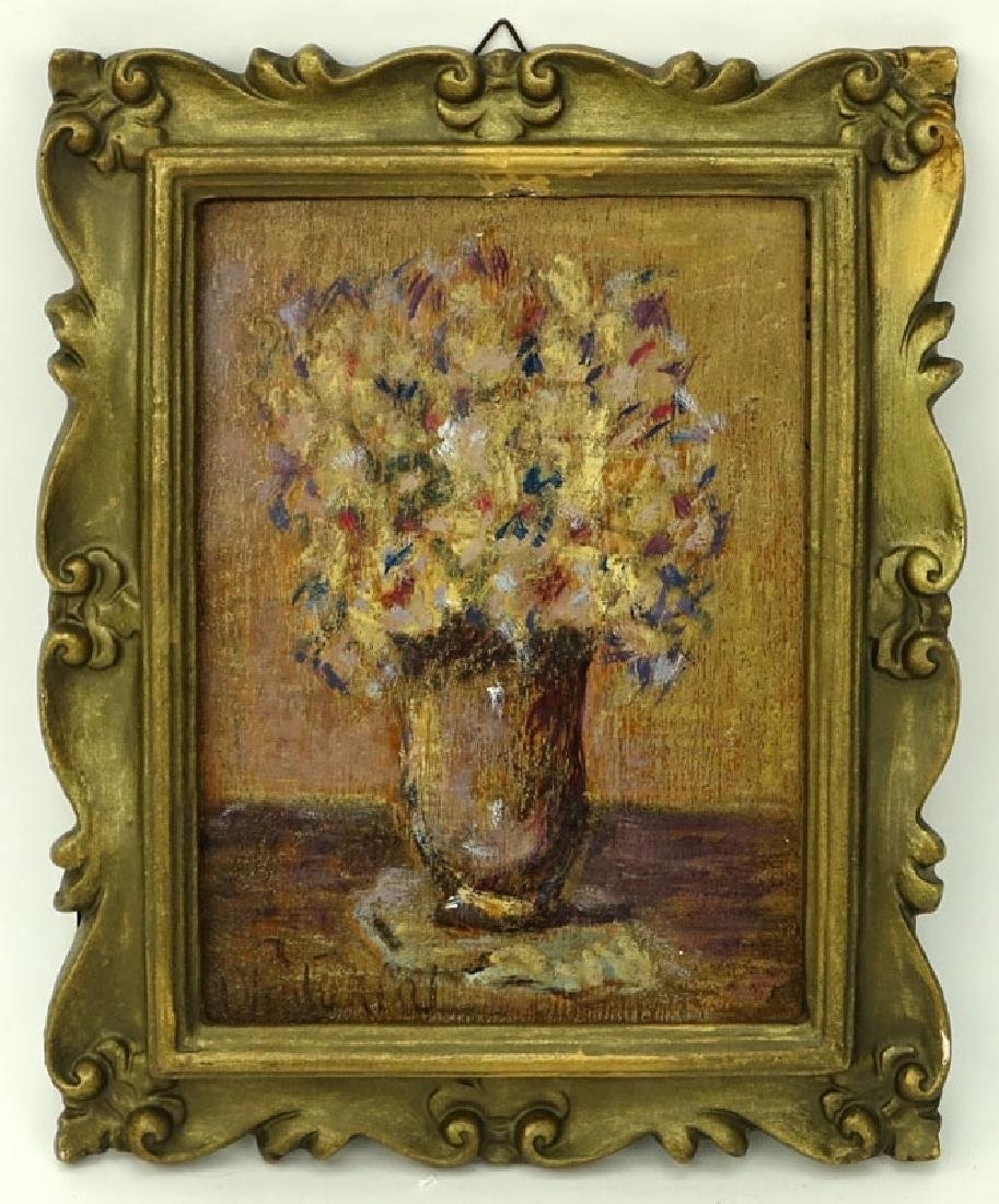 19th Century French Impressionist School Oil On Wood - 2
