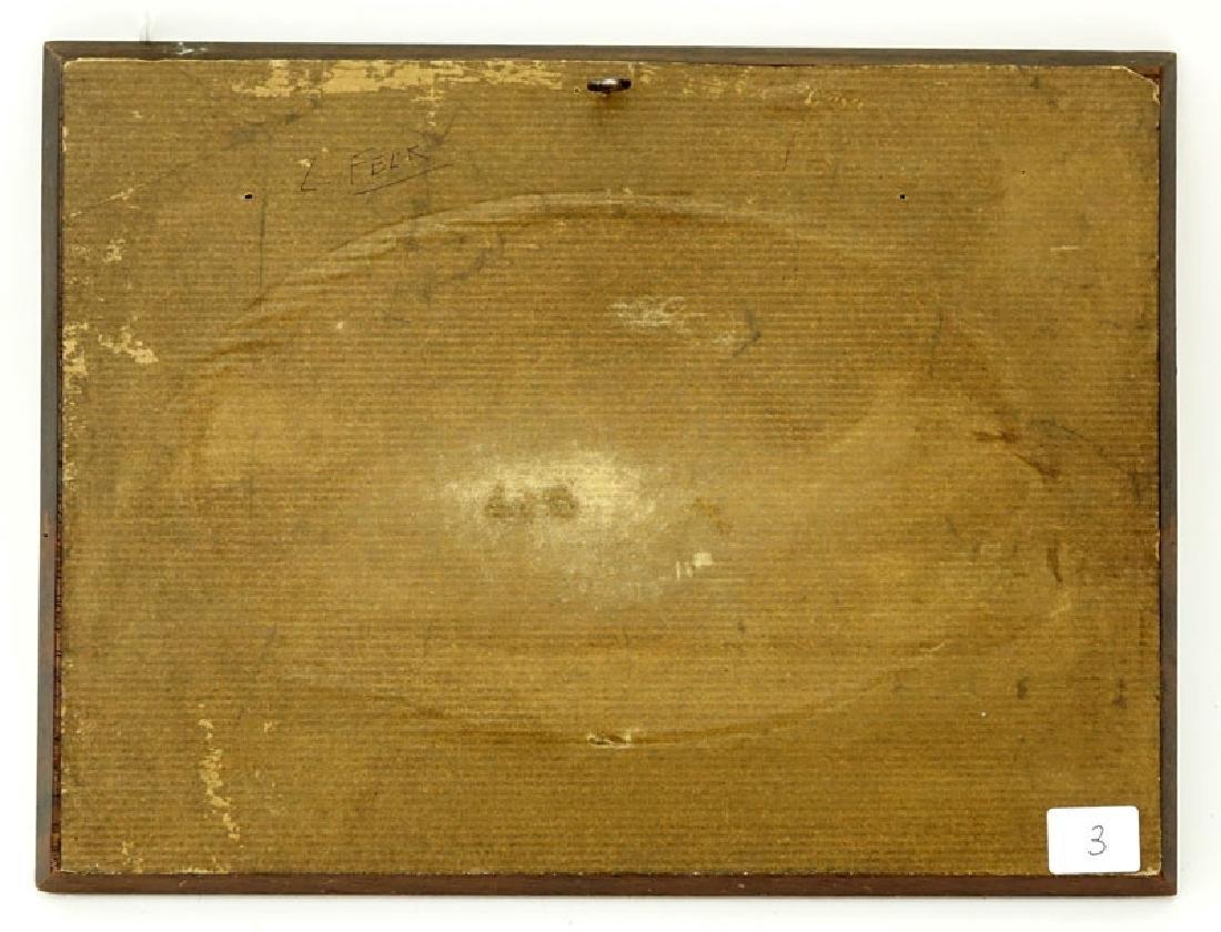 19th Century European School Gouache on Panel - 4