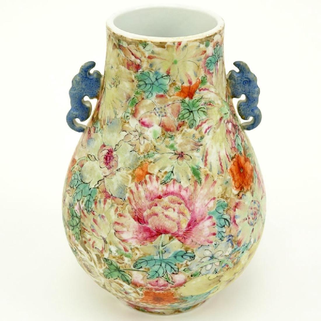 19/20th Century Chinese Famille Rose Millefleurs Vase.