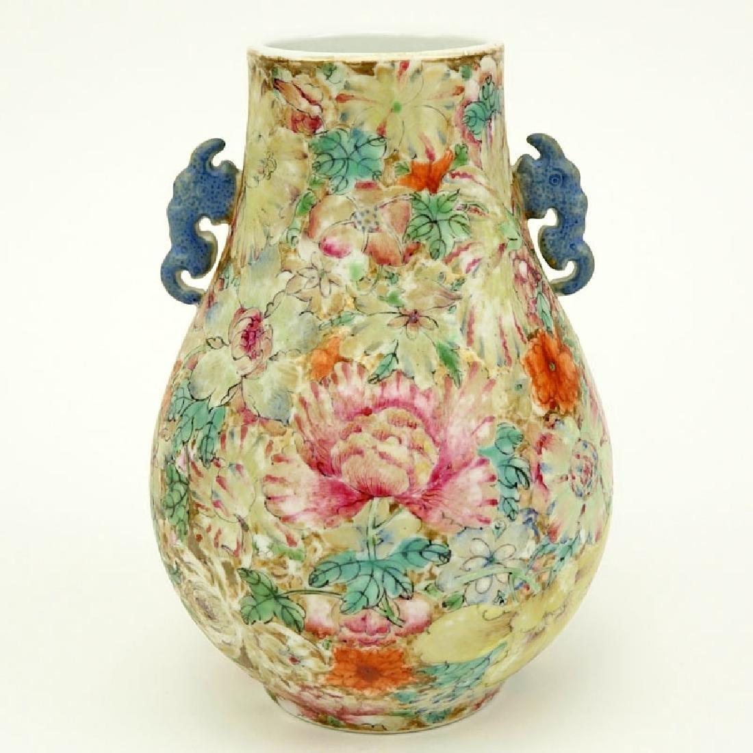19/20th Century Chinese Famille Rose Millefleurs Vase. - 2