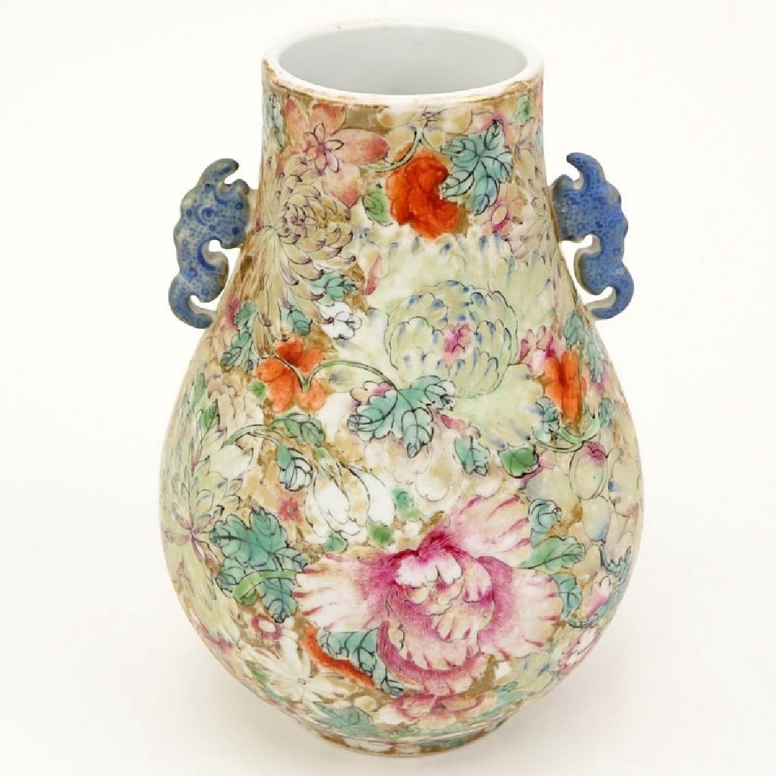 19/20th Century Chinese Famille Rose Millefleurs Vase. - 5