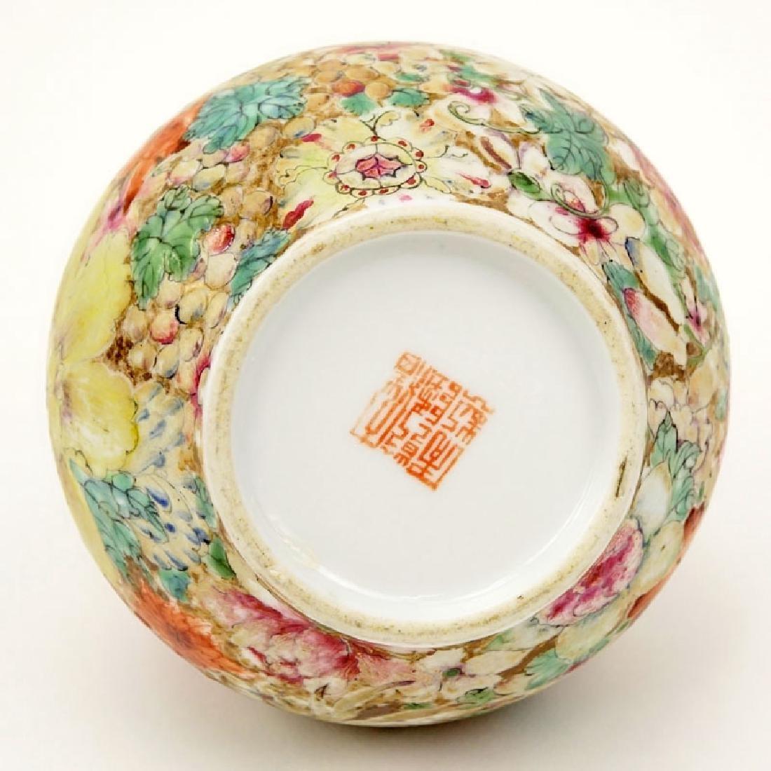 19/20th Century Chinese Famille Rose Millefleurs Vase. - 6