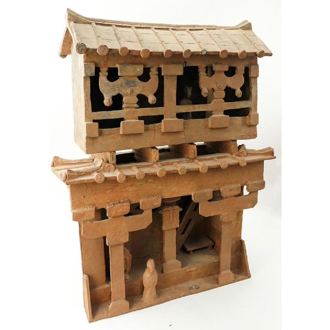 Early Chinese Pottery Shrine. Unsigned. Losses, typical