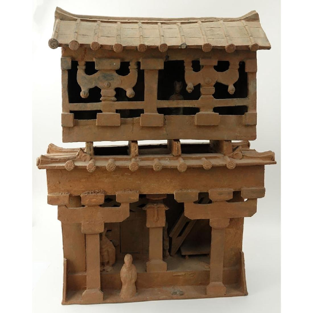 Early Chinese Pottery Shrine. Unsigned. Losses, typical - 2
