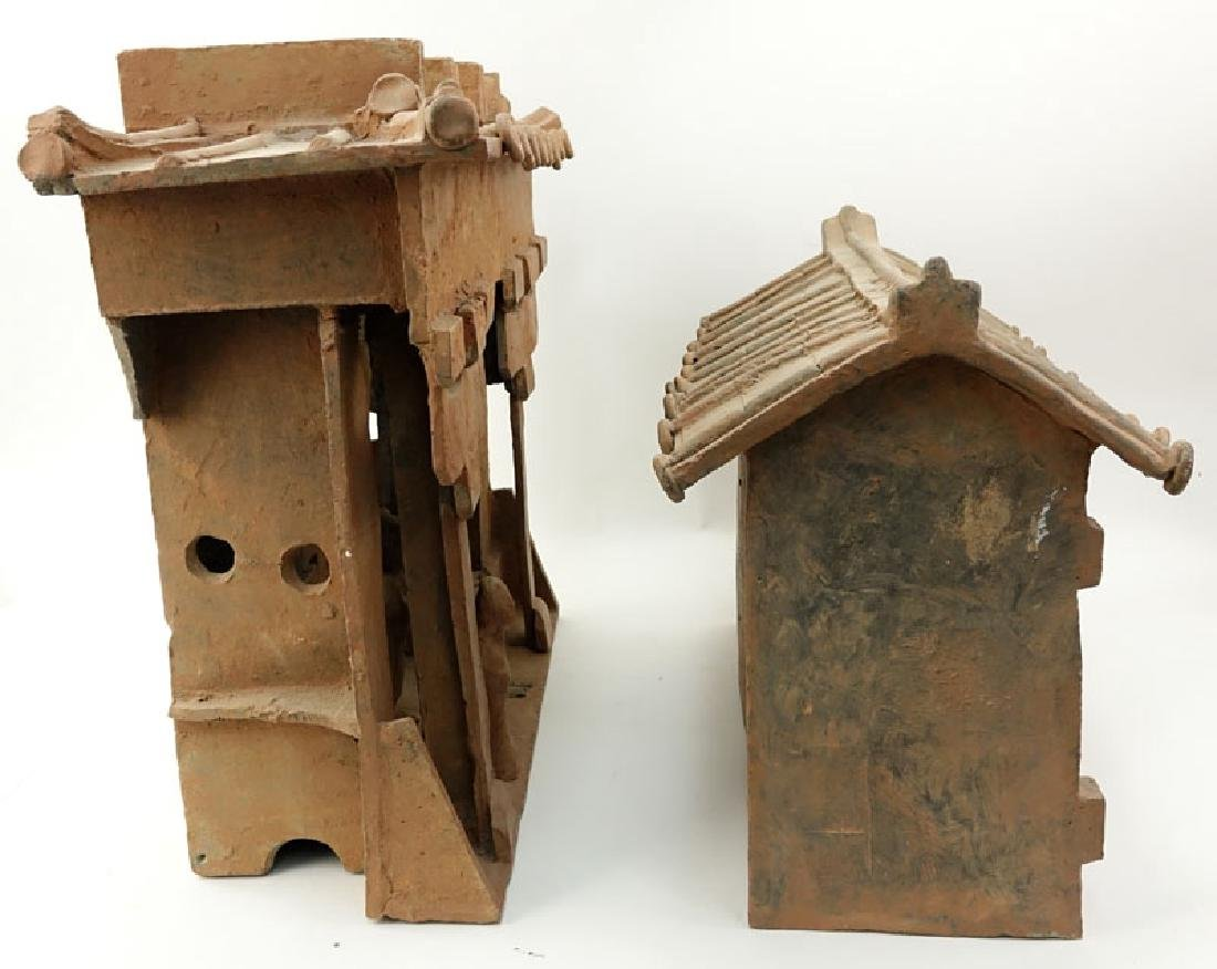 Early Chinese Pottery Shrine. Unsigned. Losses, typical - 5