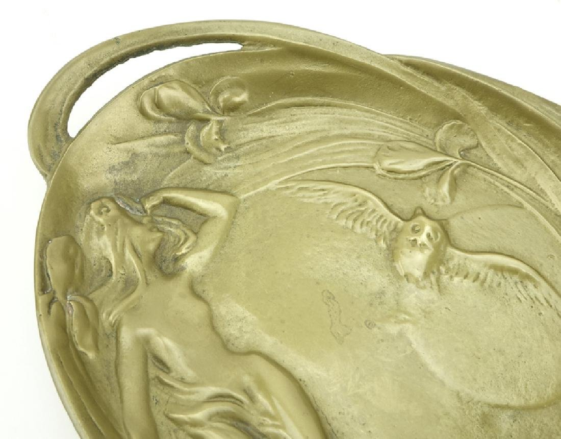 19/20th Century Gilt Bronze Art Nouveau Tray. Raised - 3