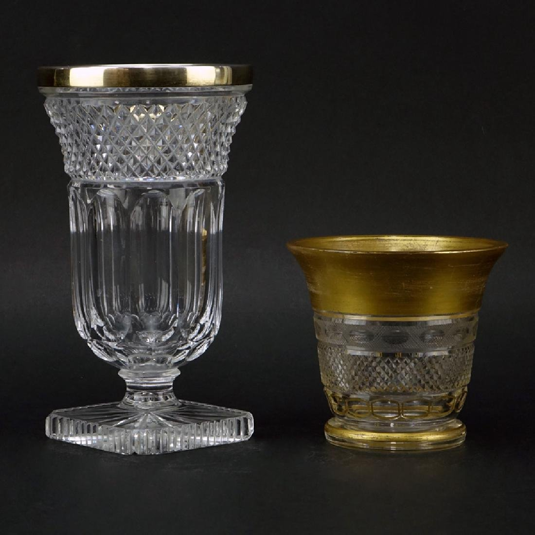 Grouping of Two (2) Vintage or Antique Glass Tableware.