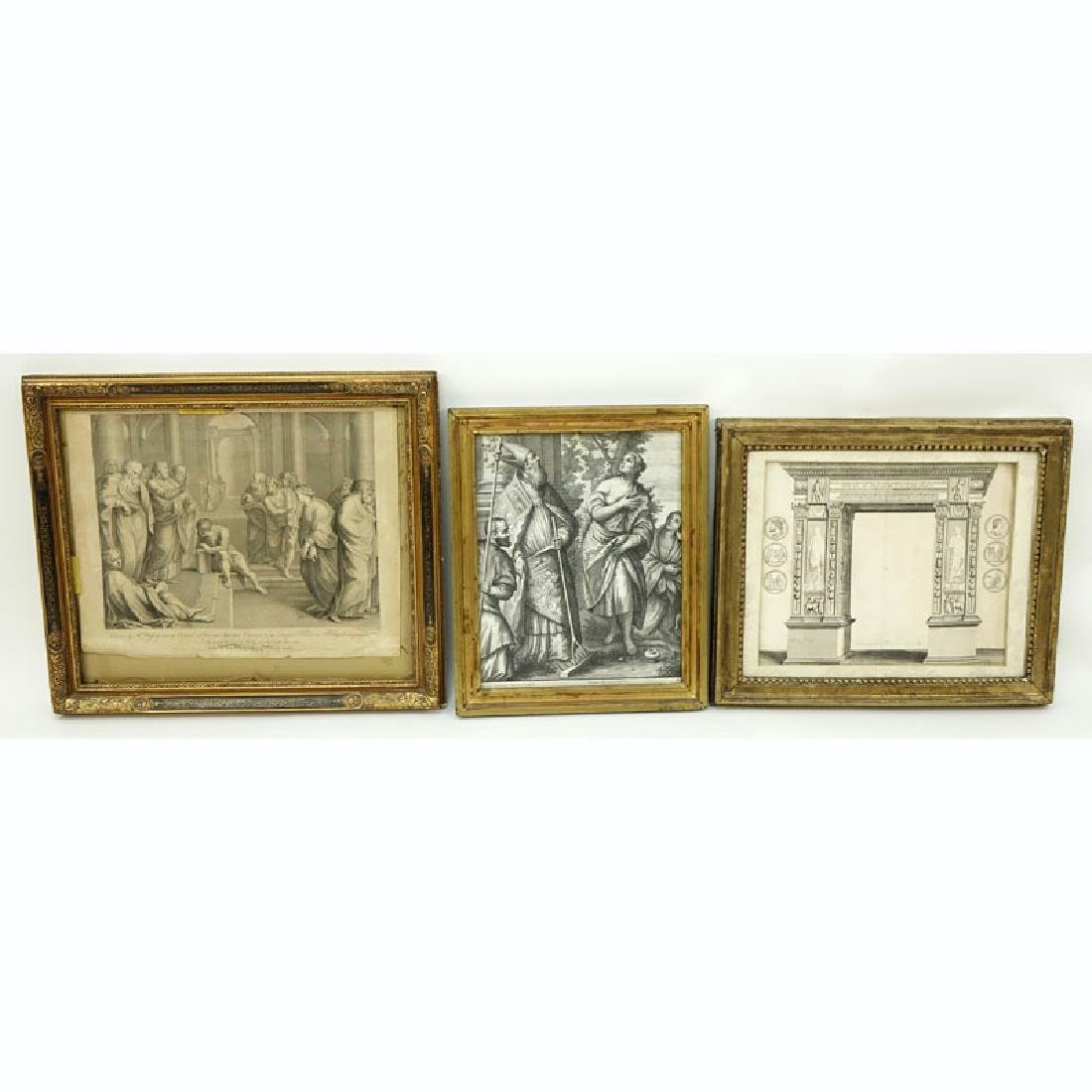 Grouping of Three (3) Antique or Vintage Artworks.